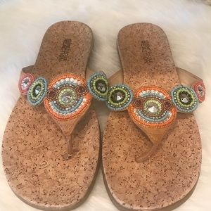 Kenneth Cole Reaction Beaded Sandals